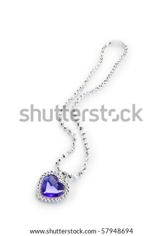 Silver pendant isolated on the white background