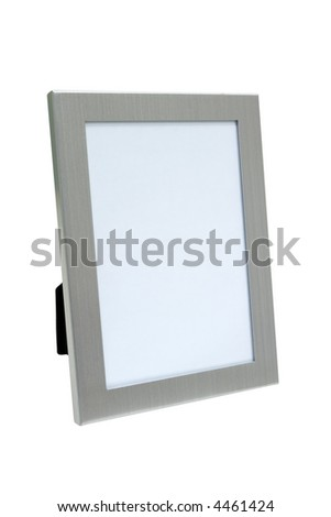 Silver photo frame with empty space for photo