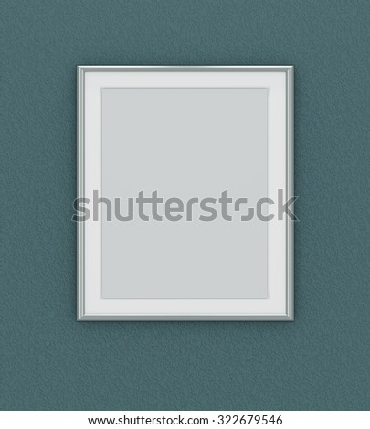 Silver picture frame over dark green wall | EZ Canvas