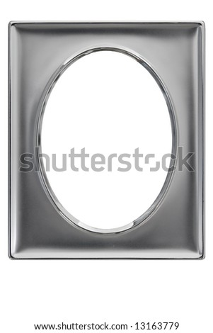 Silver plated photo frame - isolated on white background