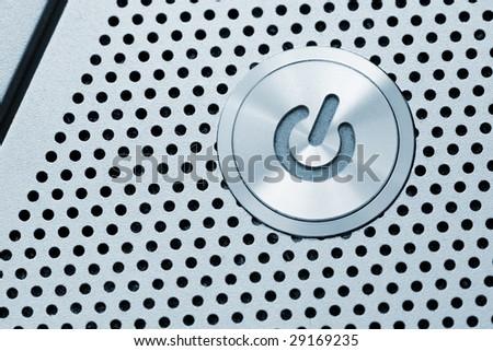 silver power button