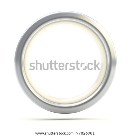 Silver ring copyspace torus isolated on white - stock photo