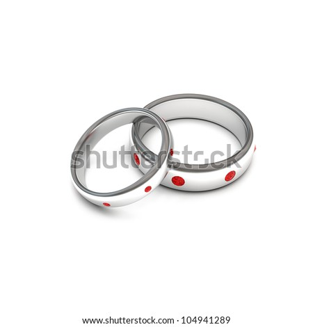 silver rings with jewels