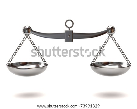 Silver Scales of justice - stock photo