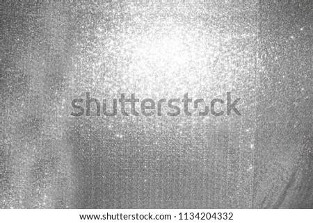 silver sequin drapes.