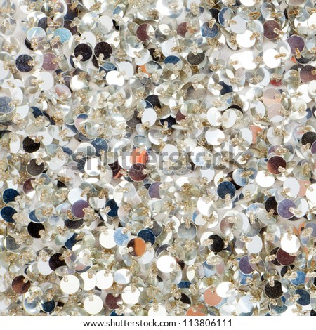 Silver sequins pattern texture fashion background