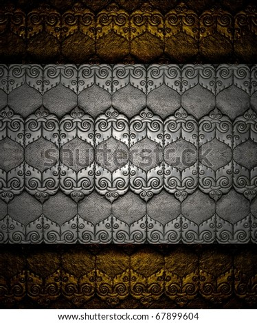 Silver sheet on Brass pattern texture Crafts world. Thai Lanna style. Delicate style is timeless and powerful. Chiang Mai, Thailand.