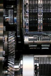 Silver Shining Metal Engine Parts