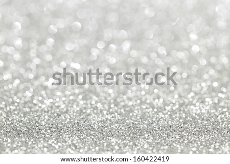 Silver Shiny Bright Christmas Bokeh Background
