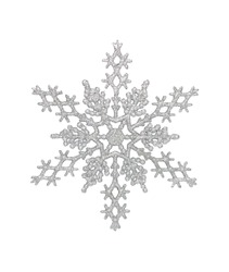 Silver snowflake, isolated w/clipping path
