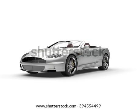 Silver sports car convertible - studio shot