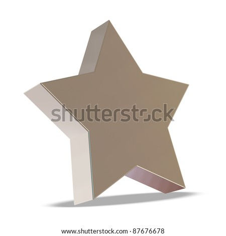 Silver Star on white background