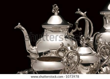 Silver Tea Pot Stock photo ©