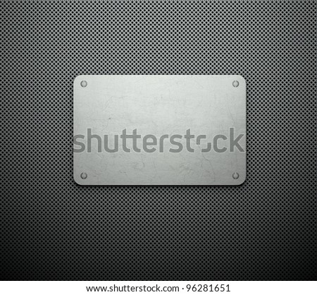 Silver template, business card background