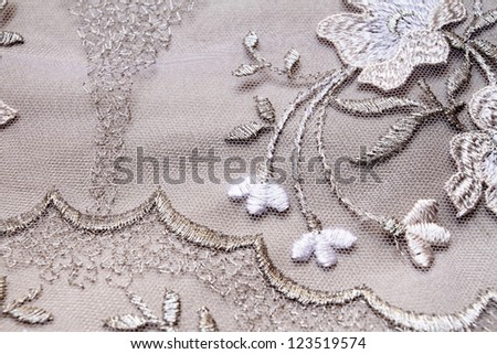Silver textile wedding background