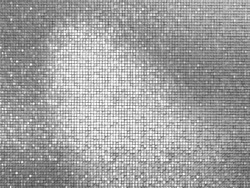 Silver tile background 3D simulation picture