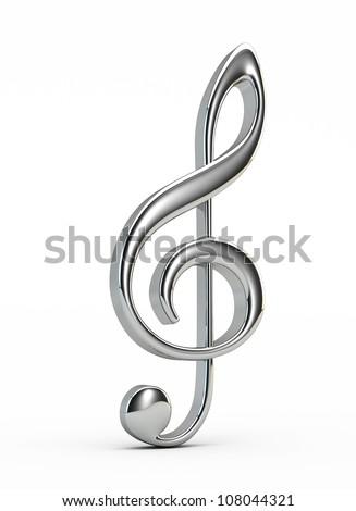 Silver  treble clef