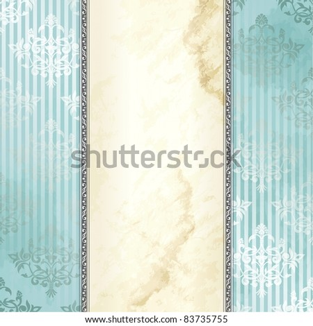 Silver Victorian vintage banner (jpg); vector version also available