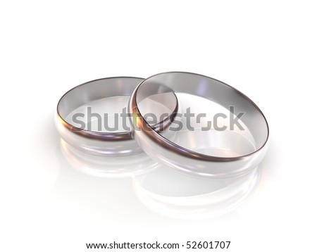 stock photo silver wedding rings