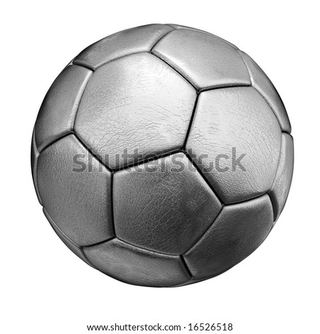 Silvered Ball with skin texture