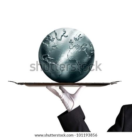 silvery globe