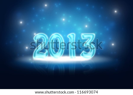 Silvester background for your designs in blue with snowflakes