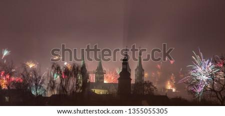 Silvester über Bamberger Dom #1355055305
