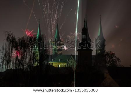 Silvester über Bamberger Dom #1355055308