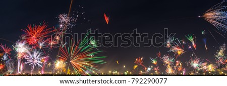 Silvester firework panorama