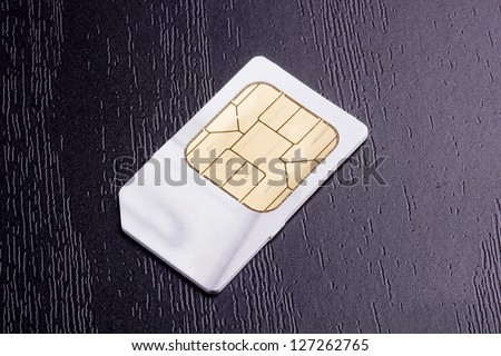 Sim card for mobile communication. Electronic devices.