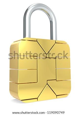 Sim Card made like a Padlock. Locked.