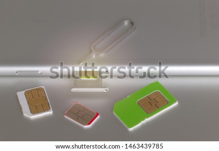 SIM card on the smart phone