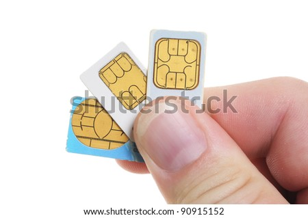 SIM-cards like they are used in mobile phones