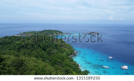 Similan Islands turquoise sea #1315189250