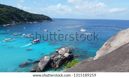Similan Islands turquoise sea #1315189259