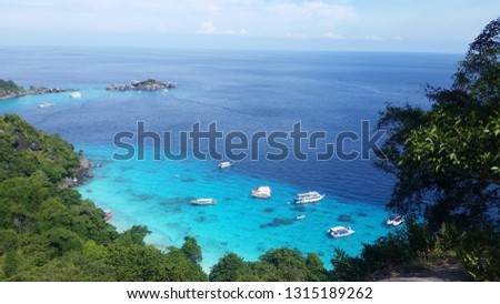 Similan Islands turquoise sea #1315189262