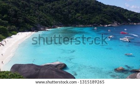 Similan Islands turquoise sea #1315189265