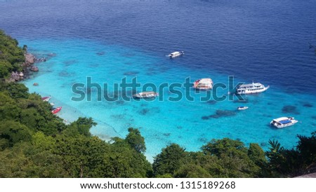 Similan Islands turquoise sea #1315189268