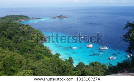 Similan Islands turquoise sea #1315189274
