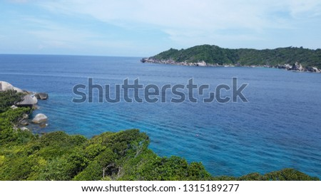 Similan Islands turquoise sea #1315189277