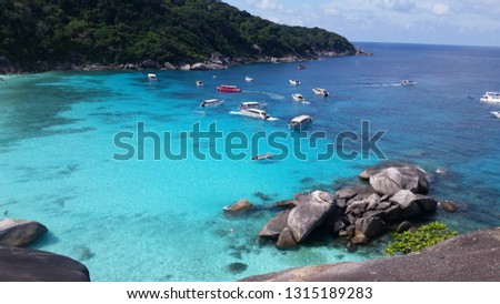 Similan Islands turquoise sea #1315189283