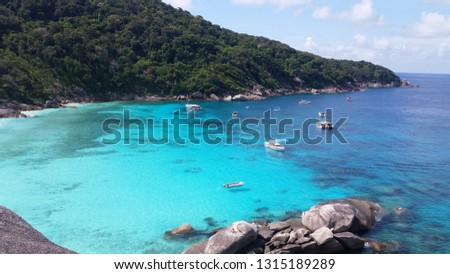 Similan Islands turquoise sea #1315189289