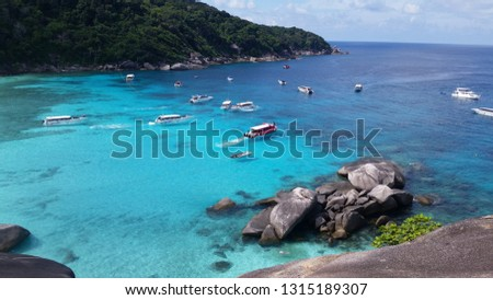 Similan Islands turquoise sea #1315189307