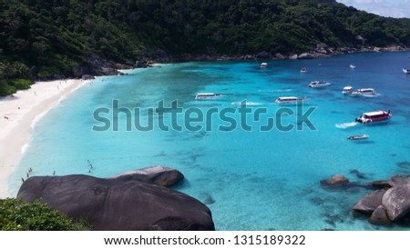 Similan Islands turquoise sea #1315189322