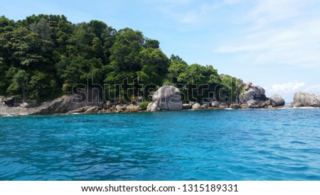 Similan Islands turquoise sea #1315189331