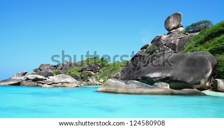 Similan National Park tropical beach island in Thailand