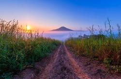 Similar Mt. Fu Viewpoint on Morning mist sunrise at khao takhian ngo view point khao kho, Phetchabun Province, Thailand.
