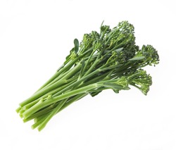 Similar to sweet baby broccoli, but green and tasty broccoli with small flowers and long thin stems