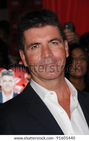 "Simon Cowell at FOX's ""The X Factor"" World Premiere Screening Event, Cinerama Dome, Hollywood, CA. 09-14-11"