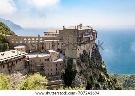 Simonopetra monastery on the Mount Athos